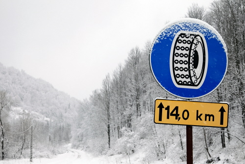 Łańcuchy śniegowe znak
