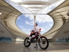 Brian Capper becomes the first Motorcyclist to ride over Moses Mabhida Stadium, Durban, South Africa on December 2nd, 2011