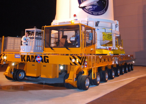 Continental Truck Tires on NASA transporter,