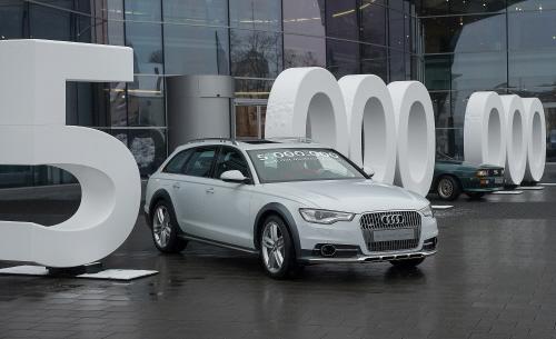 Der 5-millionste Audi mit quattro-Antrieb ist ein A6 allroad aus Neckarsulm